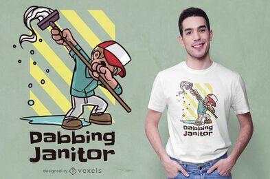 Dabbing janitor t-shirt design