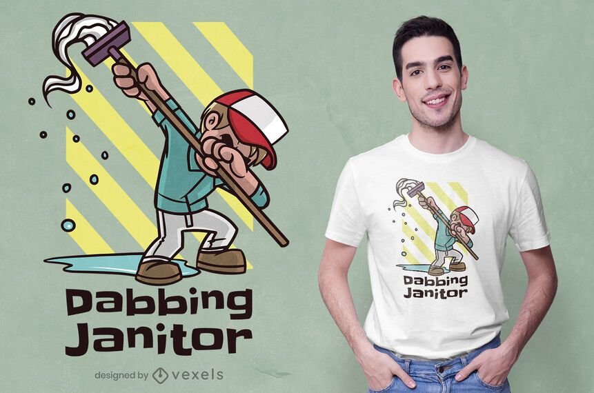 Diseño de camiseta de conserje Dabbing