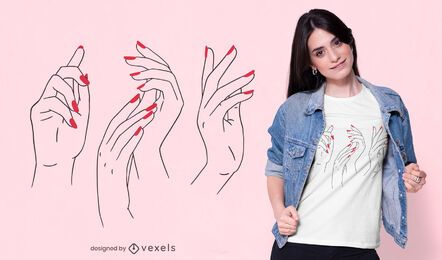 Woman hands t-shirt design