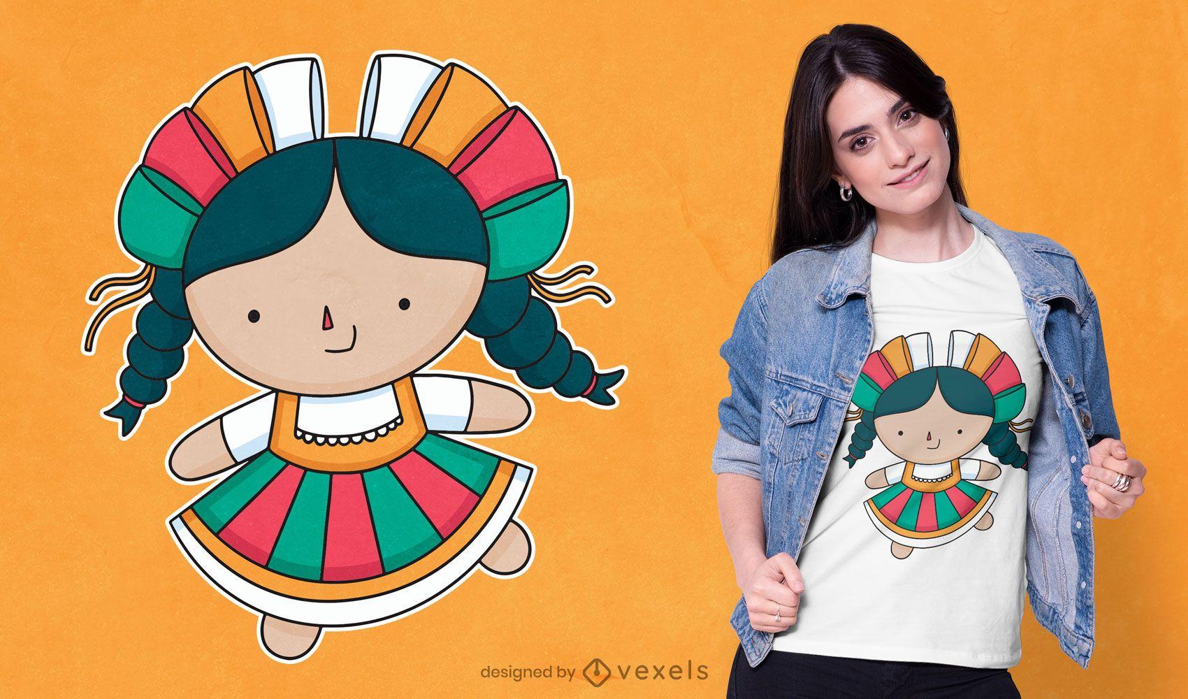 Diseño de camiseta de muñeca Lele