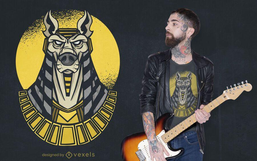 Diseño de camiseta Anubis God
