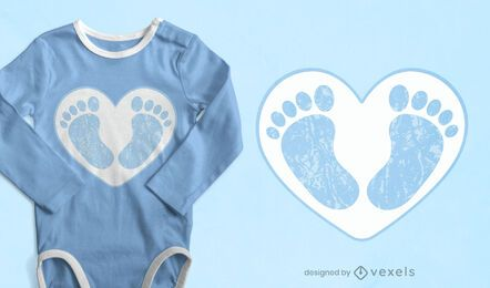 Baby feet t-shirt design
