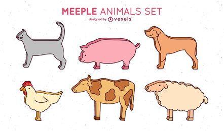 Cenografia de animais Meeple