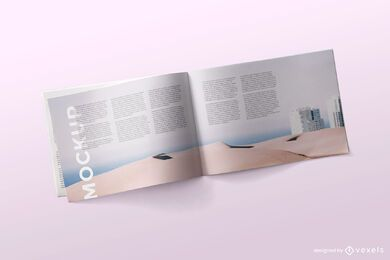 Open magazine mockup psd design