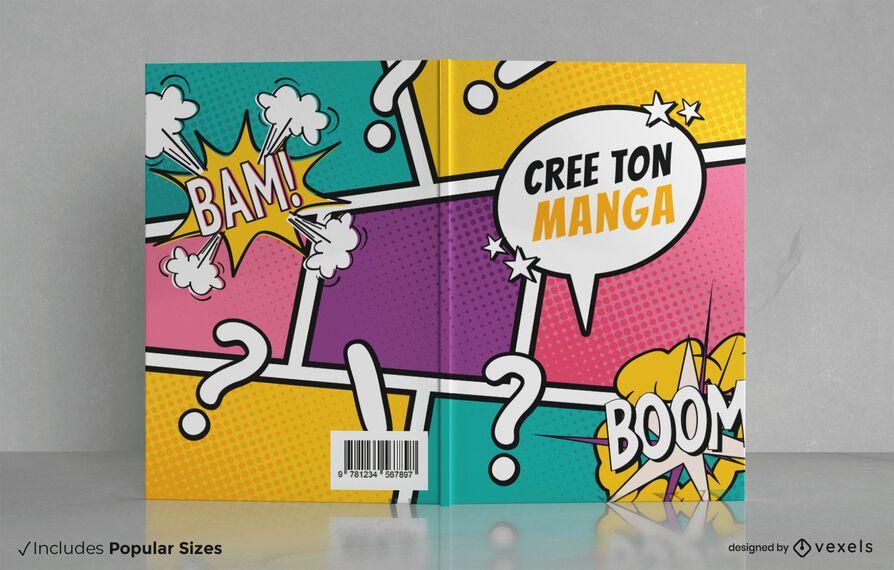 Design de capa de livro de mangá