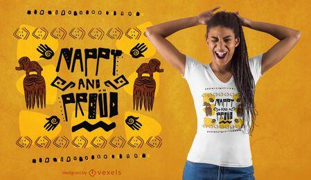 Diseño de camiseta pañal y orgulloso.