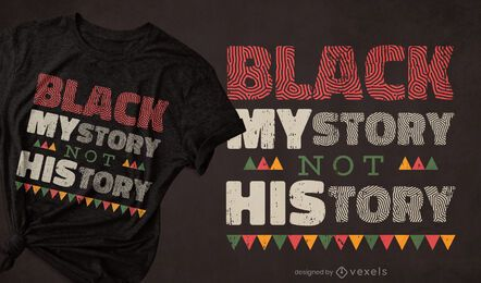 Black mystory t-shirt design