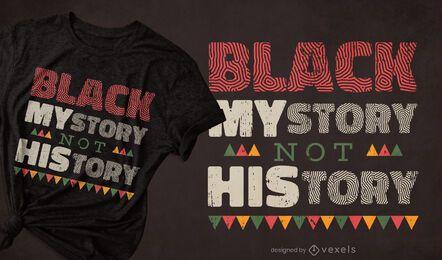 Diseño de camiseta negra mystory