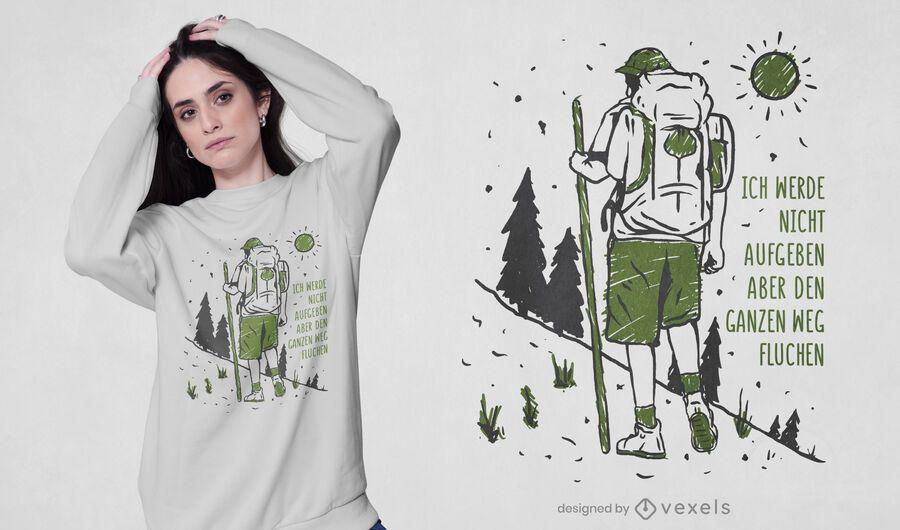 Maldición hasta el final del diseño de la camiseta.