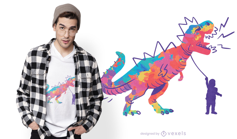 Diseño de camiseta infantil T-Rex