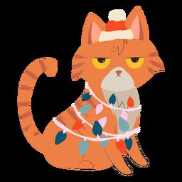 Ilustración de navidad de gato enojado