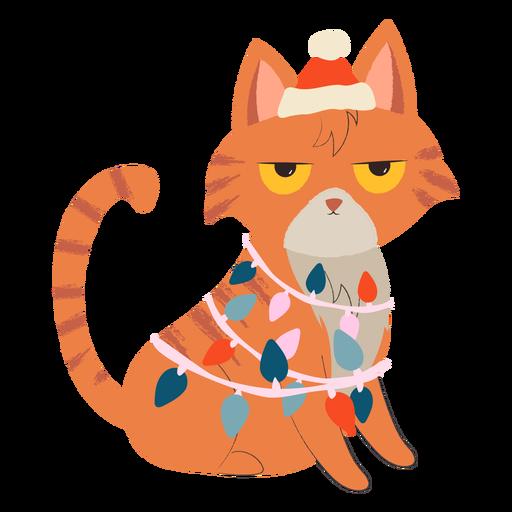 Ilustraci?n de navidad de gato enojado