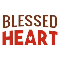 Blessed heart lettering