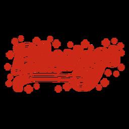 Blessings cursive lettering