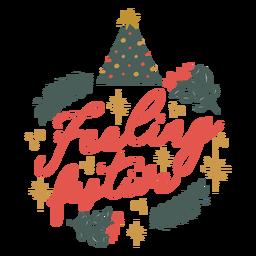 Feeling festive christmas lettering