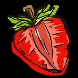 Half strawberry illustration