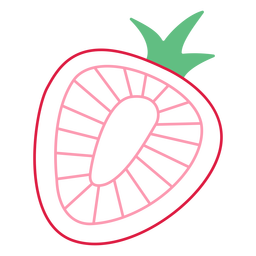 Pink strawberry stroke