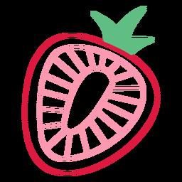 Trazo de fresa rosa