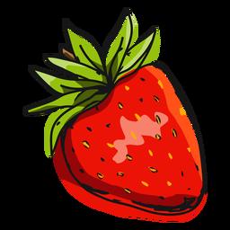 Ilustração de morango vermelho