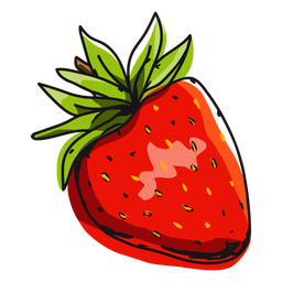 Red strawberry illustration