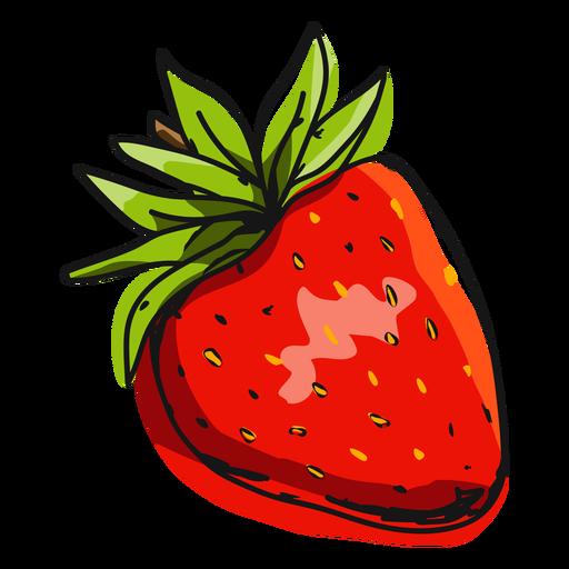 Red strawberry illustration