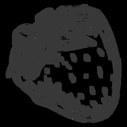 Dibujado a mano sola fresa