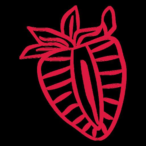 Sliced strawberry doodle