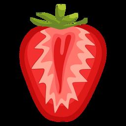 Ilustración de fresa en rodajas