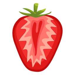 Sliced strawberry illustration