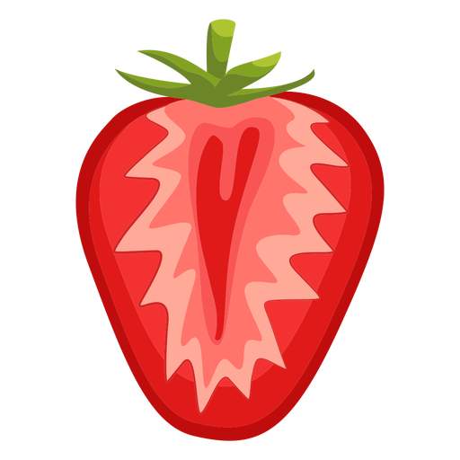 Sliced strawberry illustration