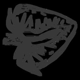 Dibujado a mano fresa en rodajas
