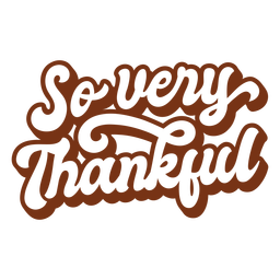 So very thankful lettering