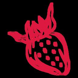 Strawberry fruit doodle