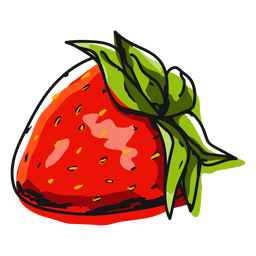 Strawberry fruit illustration