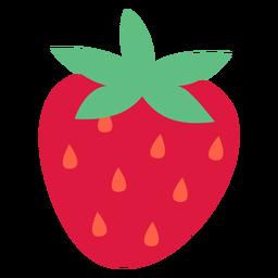 Semillas de fresa naranja planas