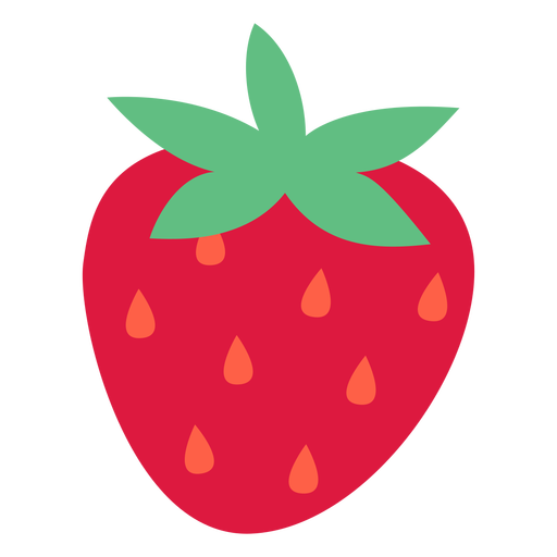 Strawberry orange seeds flat
