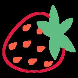 Trazo de semillas de fresa naranja