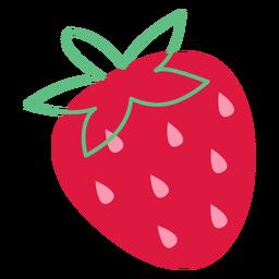 Semillas de fresa rosa planas