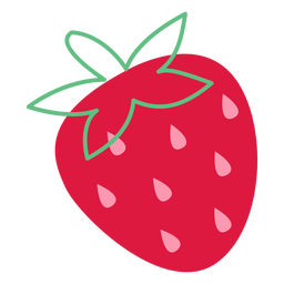 Strawberry pink seeds flat