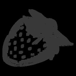 Dibujado a mano lado fresa