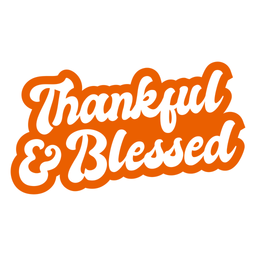 Thankful blessed lettering thanksgiving Transparent PNG