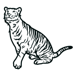 Tigre mirar hacia arriba golpe
