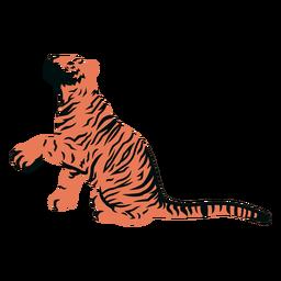Tiger paw filled stroke