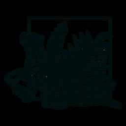 Pata de tigre con trazo de plantas