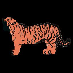Trazo lleno de rugido de tigre