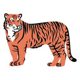Golpe cheio do lado do tigre