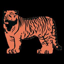 Trazo relleno del lado del tigre