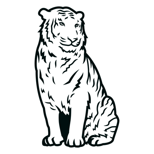 Golpe de tigre sentado