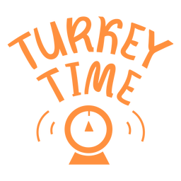 Turkey time thanksgiving lettering