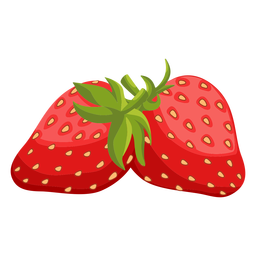 Two strawberries illustration